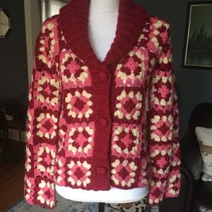 Relais Knitware Sweaters - Vintage Style Granny Square Cardigan